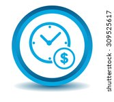 time dollar icon  blue  3d ...