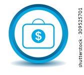 dollar bag icon  blue  3d ...