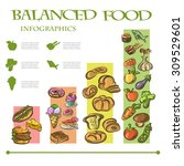 balanced food infographic  | Shutterstock .eps vector #309529601