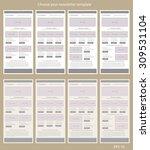 responsive newsletter template... | Shutterstock .eps vector #309531104