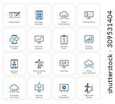business   money icons set.... | Shutterstock . vector #309531404