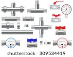 Manometer And Chrome Pipes Wit...