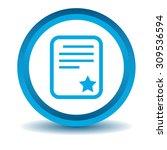 best document icon  blue  3d ...
