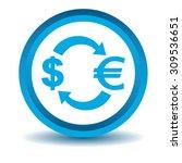 dollar euro exchange icon  blue ...