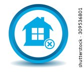remove house icon  blue  3d ...