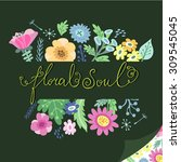 floral template for your design. | Shutterstock .eps vector #309545045