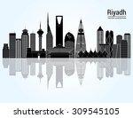 riyadh skyline. vector... | Shutterstock .eps vector #309545105