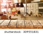 blurred background of kitchen... | Shutterstock . vector #309551831