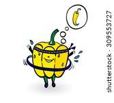 cartoon sport  illustration... | Shutterstock .eps vector #309553727
