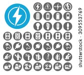 electricity icons set.... | Shutterstock .eps vector #309553769
