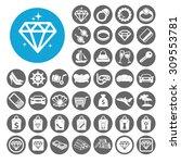 luxury icons set. illustration...   Shutterstock .eps vector #309553781