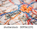 map photography  bruxelles city ... | Shutterstock . vector #309561191
