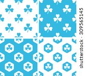 clover patterns set  simple and ...