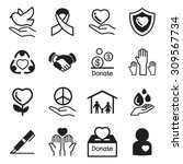 donation and charity icon | Shutterstock .eps vector #309567734