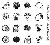 lemon icons | Shutterstock .eps vector #309578969
