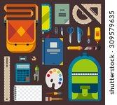 back to school. bag pupil or... | Shutterstock .eps vector #309579635