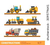 construction set. transport and ... | Shutterstock .eps vector #309579641