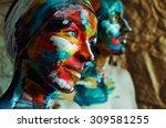 Artistic Colorful Portrait Of ...