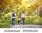 happy young family spending... | Shutterstock . vector #309584264