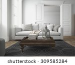 sofa of tissue in a modern... | Shutterstock . vector #309585284