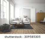 sofa of tissue in a modern... | Shutterstock . vector #309585305