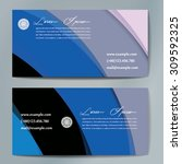 stylish business cards with... | Shutterstock .eps vector #309592325