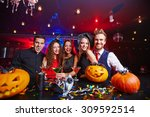 young people posing in... | Shutterstock . vector #309592514