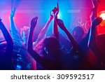 Stock photo energetic crowd partying all night long 309592517