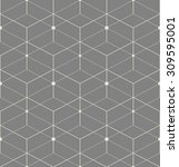 abstract geometric pattern with ... | Shutterstock .eps vector #309595001