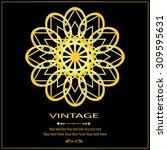 vintage vector pattern. hand... | Shutterstock .eps vector #309595631