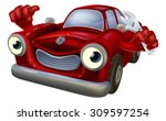 cartoon car character holding a ... | Shutterstock . vector #309597254
