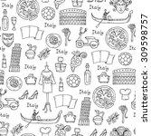 vector seamless pattern on the... | Shutterstock .eps vector #309598757