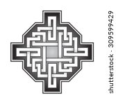 cruciform logo template in...   Shutterstock .eps vector #309599429