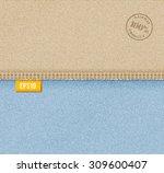 vector denim background... | Shutterstock .eps vector #309600407