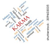 karma word cloud concept angled ... | Shutterstock . vector #309603035