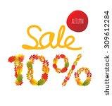 autumn sale. vector... | Shutterstock .eps vector #309612284