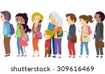 illustration of people... | Shutterstock .eps vector #309616469