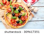 Tasty Pizza With Vegetables And ...