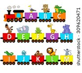 alphabet train animals from a... | Shutterstock .eps vector #309620471