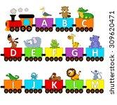 alphabet train animals from a... | Shutterstock .eps vector #309620471