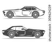 car silhouettes for your design | Shutterstock .eps vector #309624239
