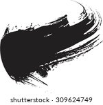 vector grunge paint brush .... | Shutterstock .eps vector #309624749