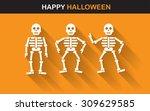 halloween poster  banner or... | Shutterstock .eps vector #309629585