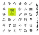 outline icon collection  ... | Shutterstock .eps vector #309631097