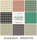 set of 8 patterns  delicate