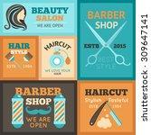 hairdress beauty salon and... | Shutterstock .eps vector #309647141