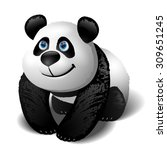 smiling cartoon panda. vector... | Shutterstock .eps vector #309651245