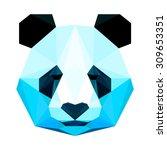 panda bear portrait. abstract... | Shutterstock .eps vector #309653351