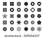 set of flower logo vector | Shutterstock .eps vector #309656237