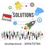 solution innovation solving...   Shutterstock . vector #309670784